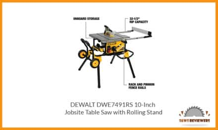 DEWALT DWE7491RS Table Saw with Rolling Stand